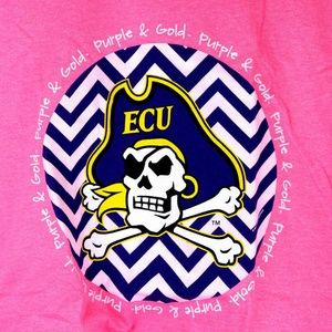 Tops - East Carolina Pirates Chevron T-Shirt